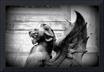 Fierce Paris Dragon - Black and White