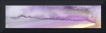Panoramic Watercolor abstract clouds 5