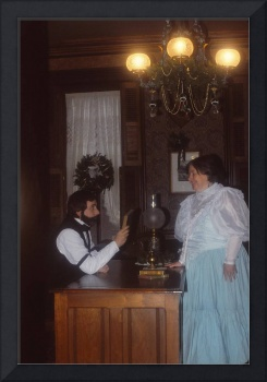 Victorian Couple Socializing