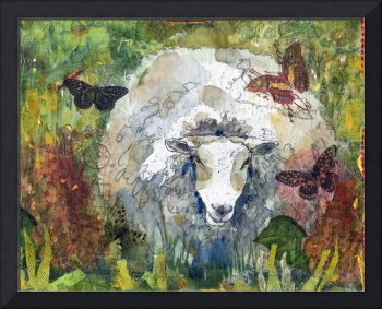 Peaceful Pasture, Sheep Print