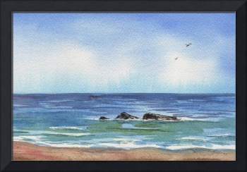 Seascape With Three Rocks