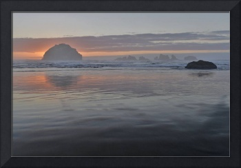Face Rock at sunset, Bandon Beach, Oregon