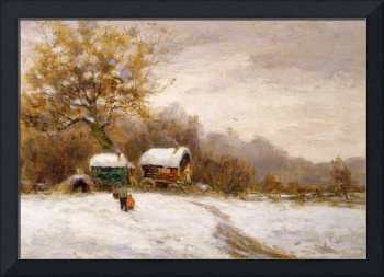 Gypsy Caravans in the Snow