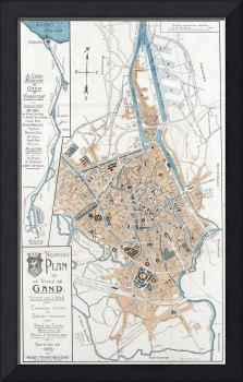 Vintage Map of Ghent Belgium (1905)
