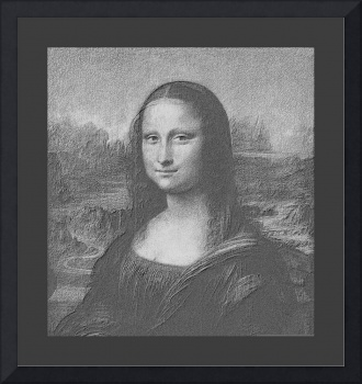 Mona Lisa Cropped B&W medium border