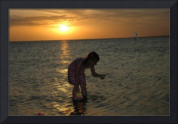 Young Girl Sunset