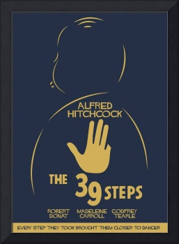 The 39 steps, Alfred Hitchcock, movie poster,