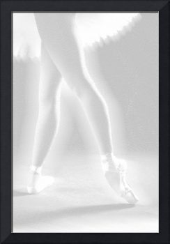 Ballet Dancer Legs White on White