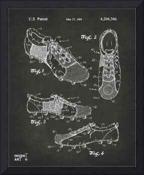 1980 Soccer Shoes Patent Artwork