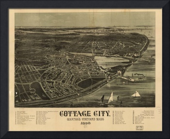 Vintage Map of Cottage City Massachusetts (1890)