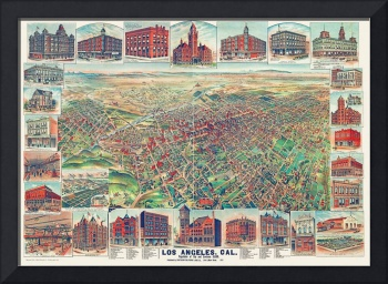 Los Angeles California Panoramic Map