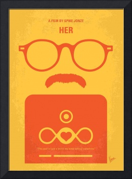 No372 My HER minimal movie poster