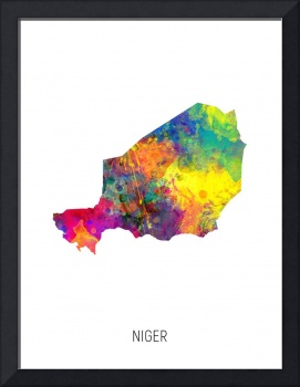 Niger Watercolor Map