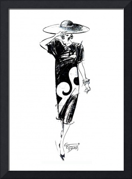 Retro Fashion Illustration by GG