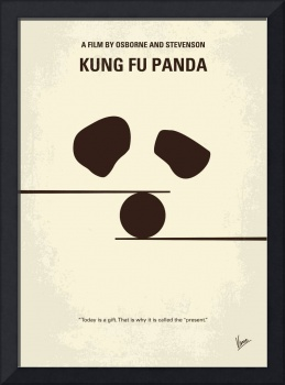No227 My KUNG FU Panda minimal movie poster