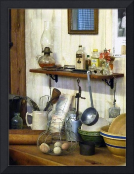 Kitchen With Wire Basket of Eggs