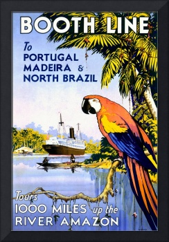 Booth Line, Amazon River Vintage Poster