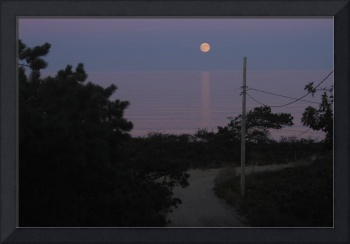 Moonrise Over Priscilla Road, Wellfleet