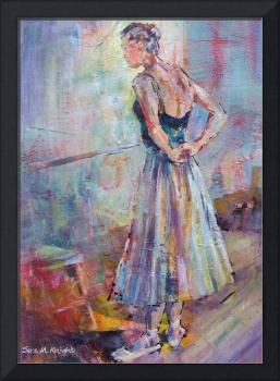 Ballet Painting - Ballerina In Dance Studio