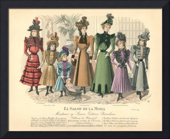 Ladies Fashion Illustration - El Salon De La Moda