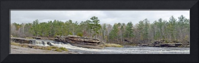 Big Spring Falls full  panoramic view