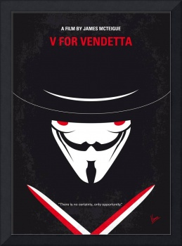 No319 My V for Vendetta minimal movie poster
