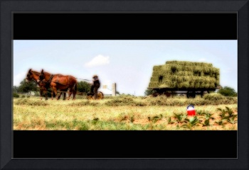 The Amish work all day...