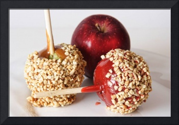 Candied Caramel and Regular Red Apple