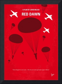 No1018 My Red Dawn minimal movie poster