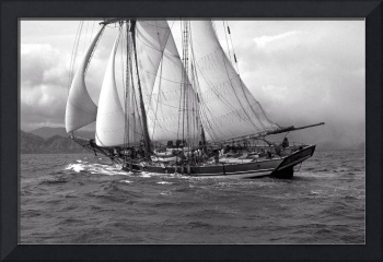 Rendition of Schooner Pride Of Baltimore ll Approa