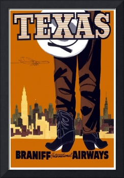 Vintage Travel Poster Texas USA