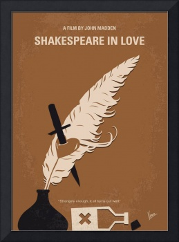No1071 My SHAKESPEARE IN LOVE minimal movie poster
