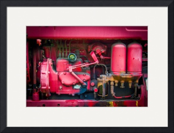 Tractor Engine in Red by D. Brent Walton