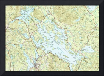 Lake Winnipesaukee Map (1986)