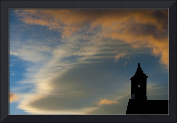 Church Tower in Sunset, Bodie