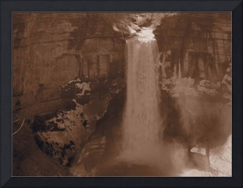 Taughannock Falls in the Finger Lakes (Sepia)