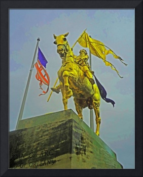 Joan of Arc & Tattered American Flag, New Orleans