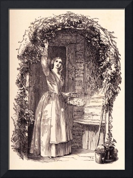Girl and Flowering Vine, 1881 book illustration
