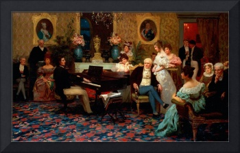 Chopin Playing the Piano in Prince Radziwill's Sal