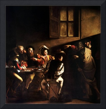 The Calling of St Matthew by Caravaggio (1600)