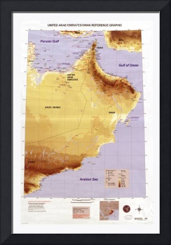 United Arab Emirates & Oman Map (2005)