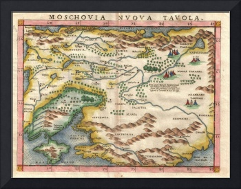 Map of Russia and Ukraine by Girolamo Ruscelli