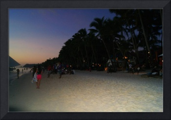 Sunset Beach Strolling. Boracay. Philippines