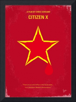 No017 My CITIZEN X minimal movie poster