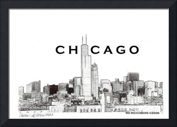 Chicago Skyline, Chicago Art By Riccoboni