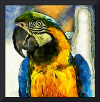 Brush Stroke Parrot