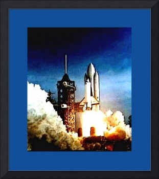 Columbia Launch enhanced with large blue border