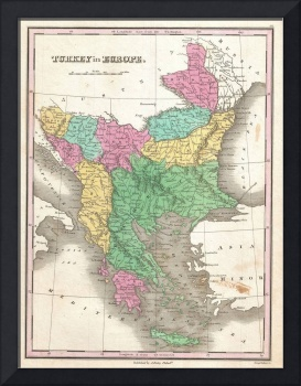 Vintage Map of The Balkans (1827)