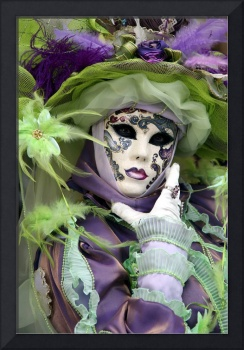Lady of Purple and Lime Green Feathers