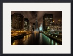 Chicago River by Night by Dave Wilson